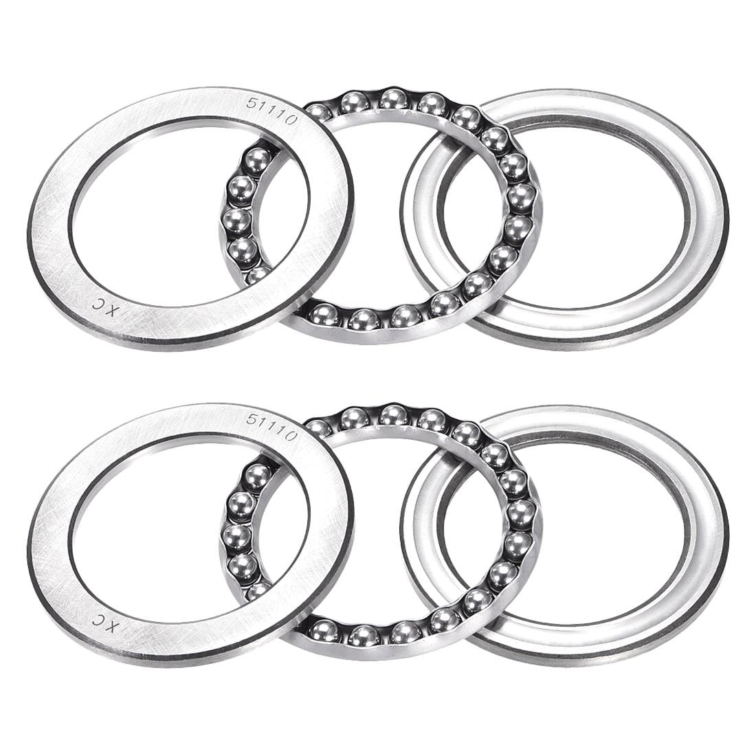 uxcell 51110 Single Direction Thrust Ball Bearings 50mm x 70mm x 14mm Chrome Steel