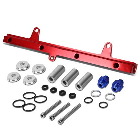 For 89-94 Nissan 240SX Top Feed High Flow Fuel Injector Rail Kit (Red) - S13 SR20DET 90 91 92 (Sr20det Racing)