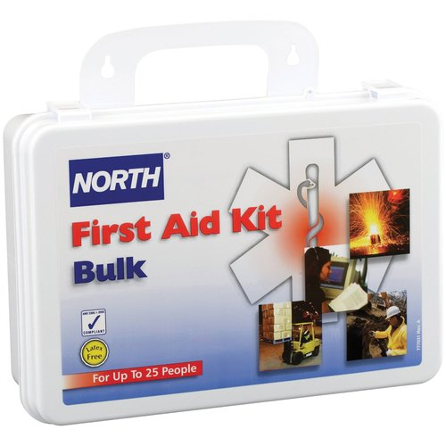 North by Honeywell 25-Person First Aid Kit, Bulk, Plastic