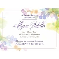Vineyard Standard Bridal Shower Invitation