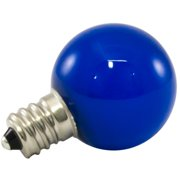 American Lighting LLC 1W Blue Frosted E12/Candelabra LED Light Bulb (Set of 25)