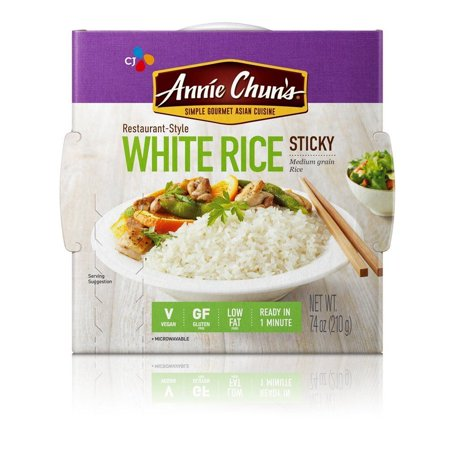 Annie Chun's Rice Express White Sticky Rice 7.4 Ounce (Pack of