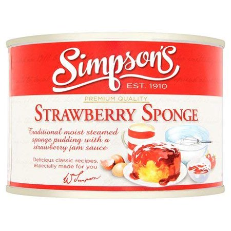 Simpson Strawberry Tin Sponge Pudding 300g (Pack of (Simpsons Pack)