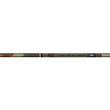Full Metal Jacket 5mm Woodland Camo 500 Raw Shaft w/Nock/Insts