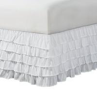 "Mainstays 5-tier ruffled bedskirt 15"" drop"