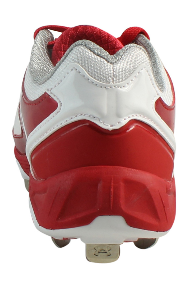 New Under Armour Mens Ua W Spine Glyde St Red/White Baseball Cleats Size 6.5