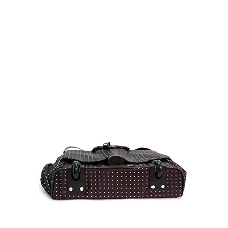 Polka Dot Rolling Travel Tote Laptop Foldable Bag