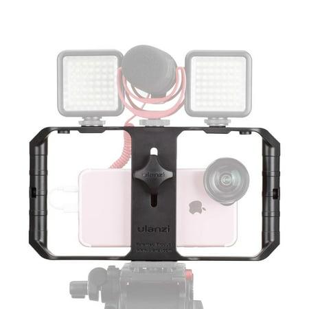 ULANZI U Rig Pro Smartphone Video Rig, Film making Case, Phone Video Stabilizer Grip Tripod Mount for Video maker Film Maker Videographer for iPhone Xs XS Max XR iPhone X 8 Plus