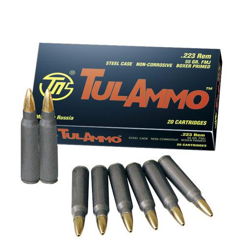 Tulammo .233 Remington Full Metal Jacket 55 Grain Ammunition, 20 Rounds