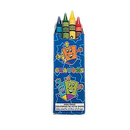 Hanukkah Crayons Party Favor, 4-Count (Hanukkah Parties)