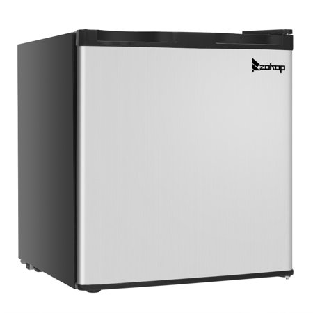 Deep Freezer Chest, SEGMART Modern Small Upright Freezer with Stainless Steel, 1.1 Cu ft Compact Single Door Mini Chest Freezer, Small Refrigerator for kitchens Offices, Black,