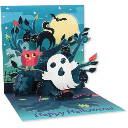 Up With Paper Haunted Tree Pop-Up Halloween Card](Trump Card Make Up Halloween)