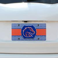 Boise State Broncos Greek Key Plastic License Plate