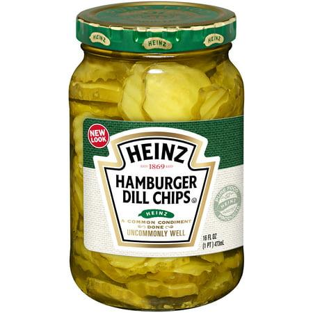 Heinz Hamburger Dill Pickle Chips, 16 fl oz Jar