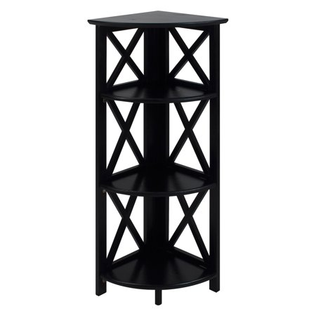 "Casual Home Montego 3-Shelf Folding 38"" Corner Unit Bookcase"