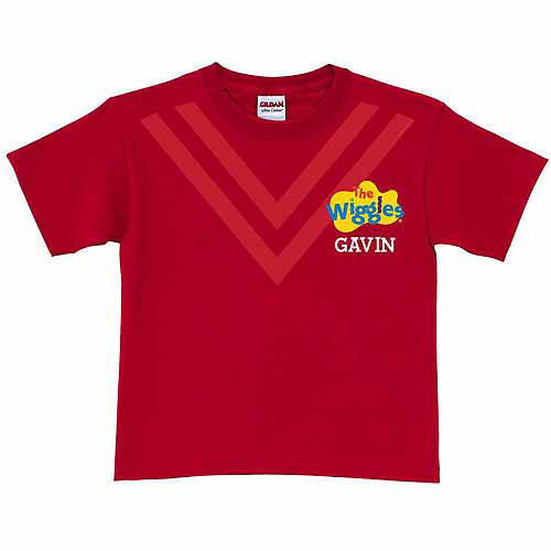 Personalized The Wiggles Uniform Toddler T-Shirt, Red