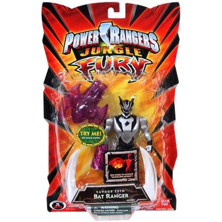 Power Rangers Jungle Fury Savage Spin Bat Ranger Action Figure - Red Jungle Fury