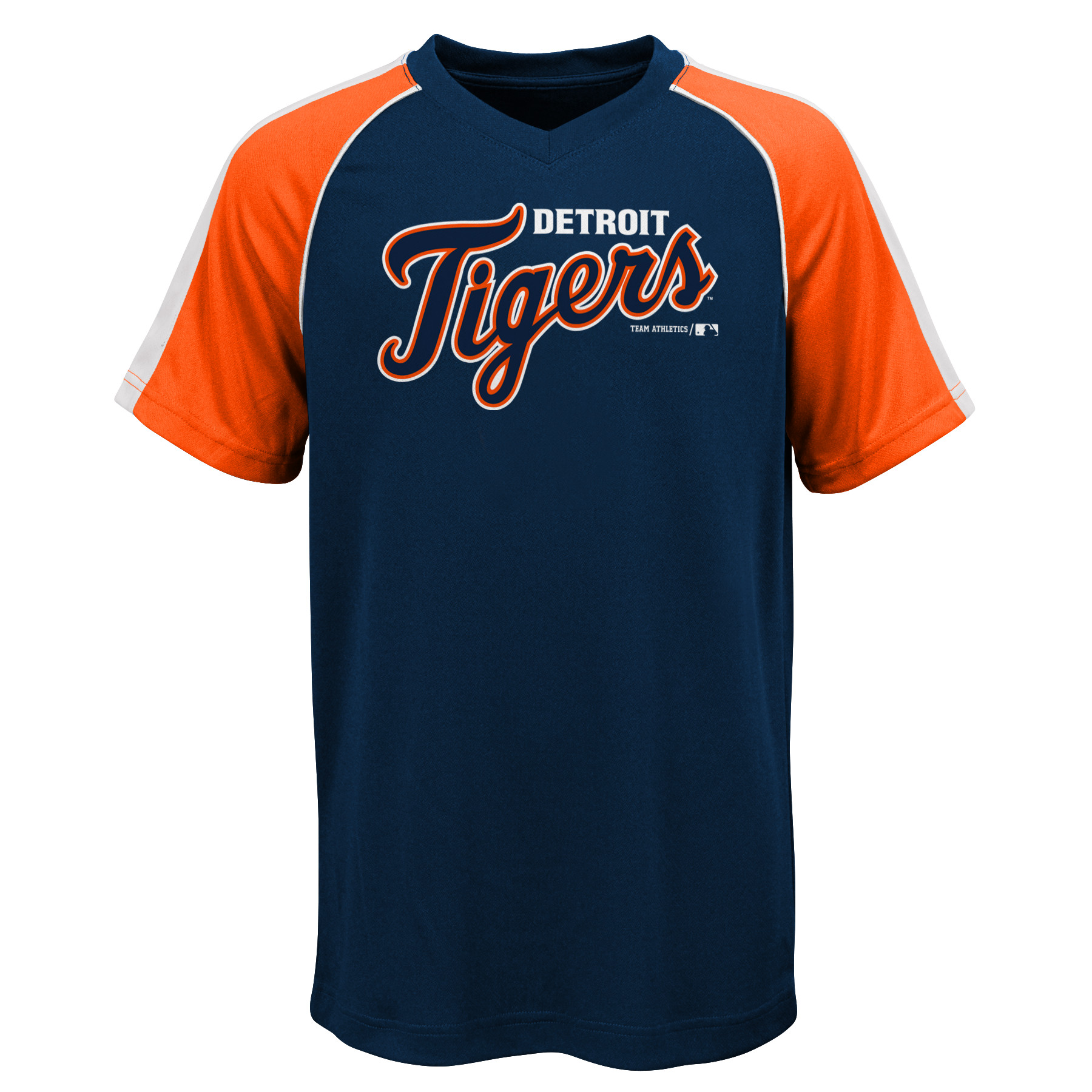 MLB Detroit TIGERS TEE Short Sleeve Boys Fashion Jersey Tee 100% Polyester Pin Dot Mesh Jersey Team Tee 4-18