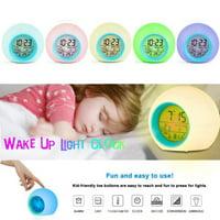 Mini Home Kids Bedroom 7 Color Glowing Change LED Digital Alarm Clock Gift