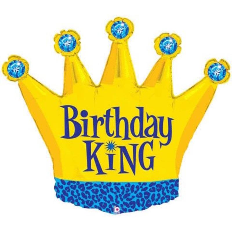 Costumes 205059 Birthday King Foil Balloon