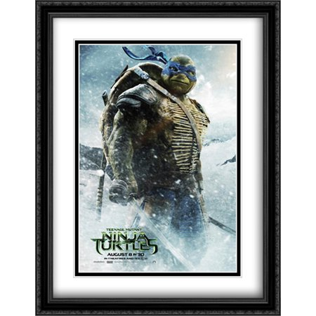 Teenage Mutant Ninja Turtles 28x36 Double Matted Large Large Black Ornate Framed Movie Poster Art Print - Large Ninja Turtle