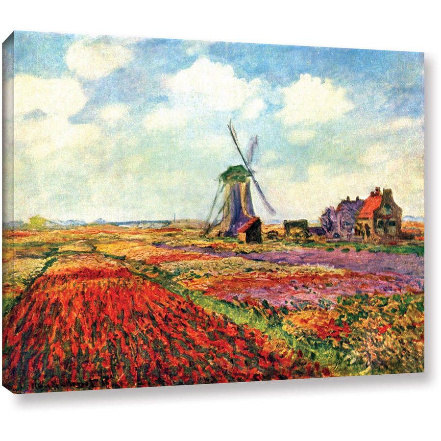"Claude Monet ""Windmill"" Wrapped Canvas Art"