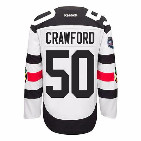 Corey Crawford Chicago Blackhawks Nhl Reebok Mens White  50 Stadium Series Official Premier Jersey