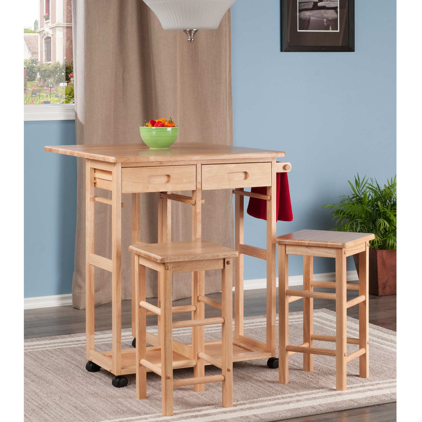 Winsome Wood Suzanne 3-Piece Space Saver Set, Multiple Finishes