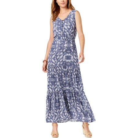NY Collection Womens Petites Casual Sleeveless Maxi Dress ()