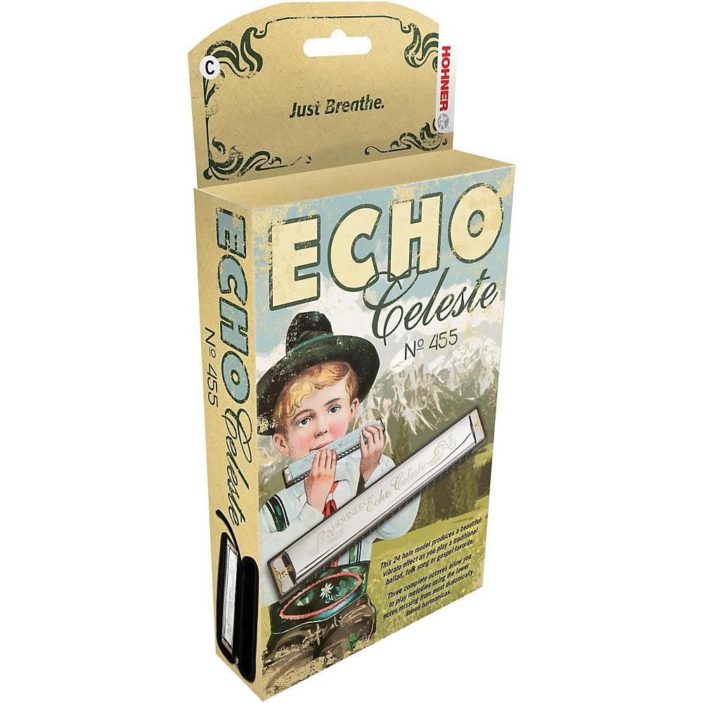 Hohner 455 Echo Celeste Tremolo Harmonica F# by Hohner
