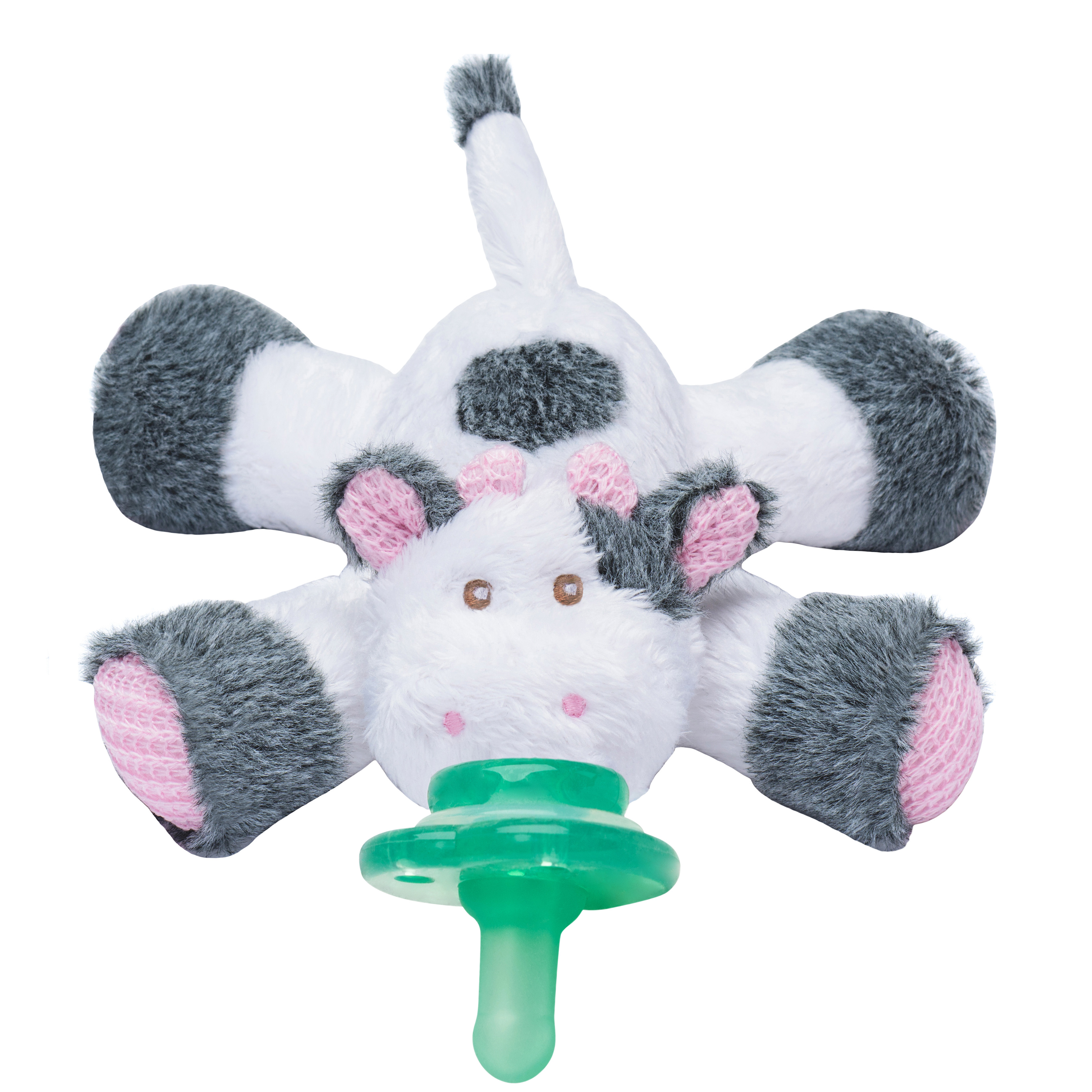 Nookums Paci-Plushies Buddies Cow Pacifier Holder by nookums