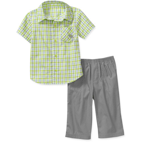 Child of Mine by Carters Newborn Boys' 2-Piece Plaid Shirt and Pant Set