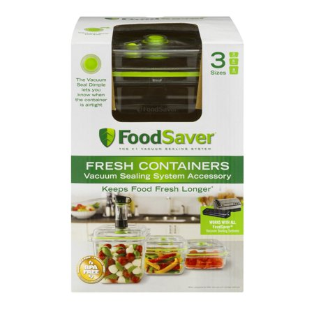 Food Saver Fresh Containers 3 Sizes - 3 CT
