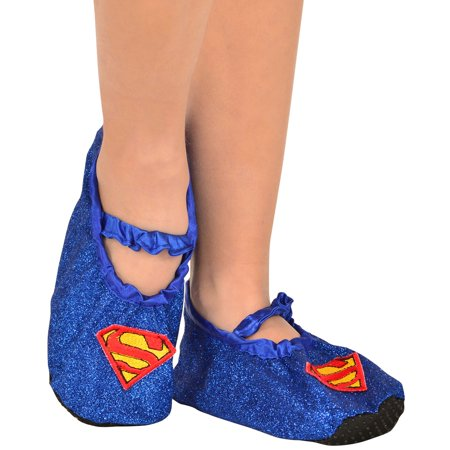 Supergirl - Classic Glitter Slipper Shoes for $<!---->