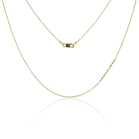 YGI FMC4007Y-18 14k Yellow Gold Diamond Cut 1 mm. Bead Chain - 18 in. - image 1 de 1