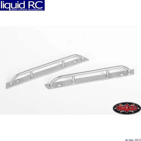 RC 4WD VVV-C0553 Steel Side Sliders for 1/18 Blackjack Body (Silver)