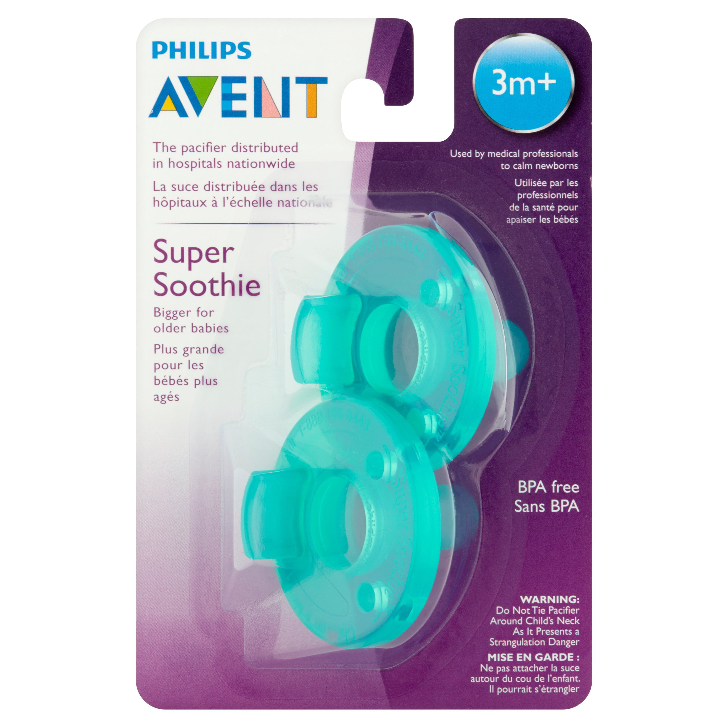 Philips Avent Super Soothie Pacifier 3 Months 2 Counts High Resolution Dummies Baby