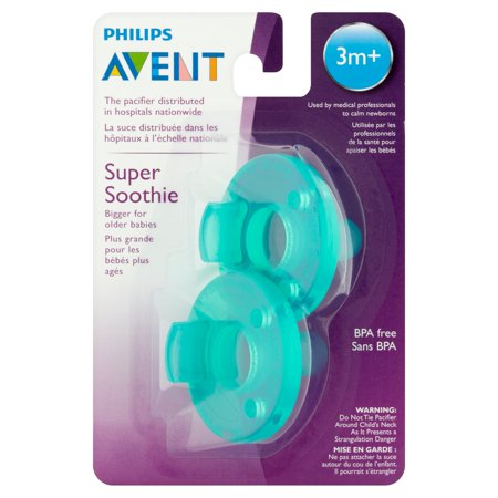 Philips Avent Super Soothie Pacifier, 3+ Months - 2 Counts
