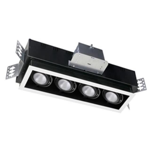 20W 4 Light 277V LED 4 Unit, White & Black - image 1 of 1