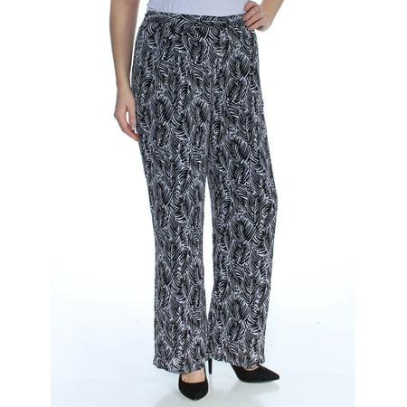 MICHAEL KORS Womens Black Printed Straight leg Pants Petites  Size: 14