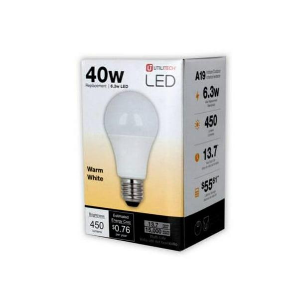 Utilitech 450 Lumen Led 40 Light Bulb