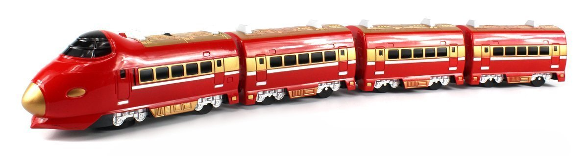 """Super 757 Passenger Express Battery Operated 28"""" Bump and Go Toy Train Car w  Sounds... by Velocity Toys"""
