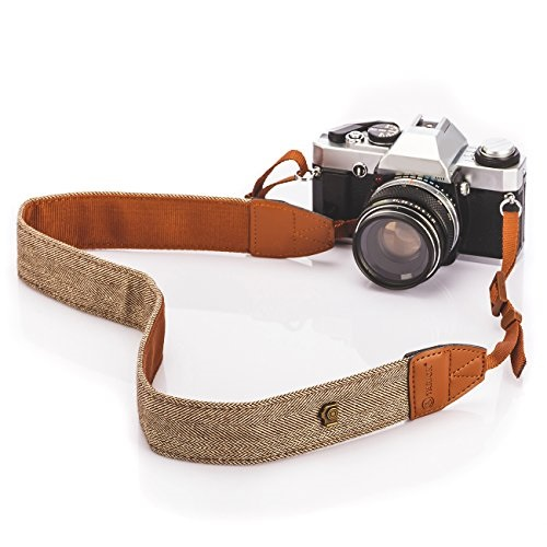 Orange Triangle Pattern Instant Camera and Digital Camera Elvam Universal Men and Women Camera Strap Belt Compatible for All DSLR Camera SLR Camera