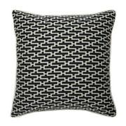 Corona Dcor Corona Decor French-woven Black Zig-Zag Pattern Cotton/ Wool Decorative Throw Pillow