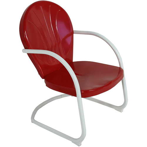 "Jack Post BH-20CR 27.25"" x 22.5"" x 35.25"" Red Retro Chair"