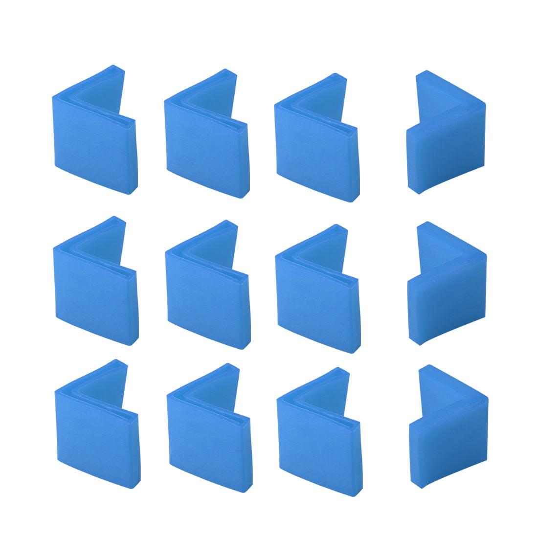 40mm x 40mm Angle Iron Foot Pad L Shaped PVC Leg Cap Floor Protector Blue 12 Pcs - image 7 de 7