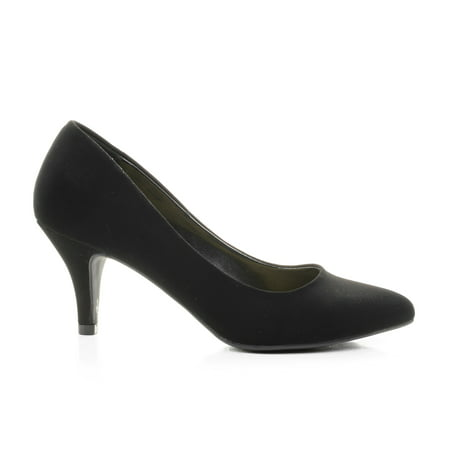James by City Classified, Pointy Toe Classic Dress Low Heel - Black Point Pointy Pumps