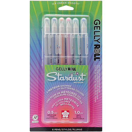 Sakura Meteor Gelly Roll Stardust Pens, 6/pkg