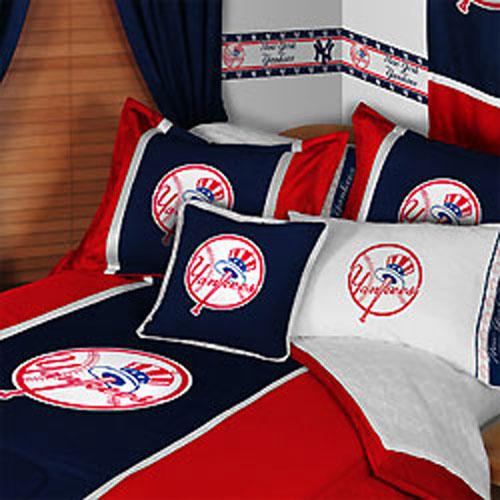 MLB New York Yankees Comforter Pillowcase Baseball Beddin...