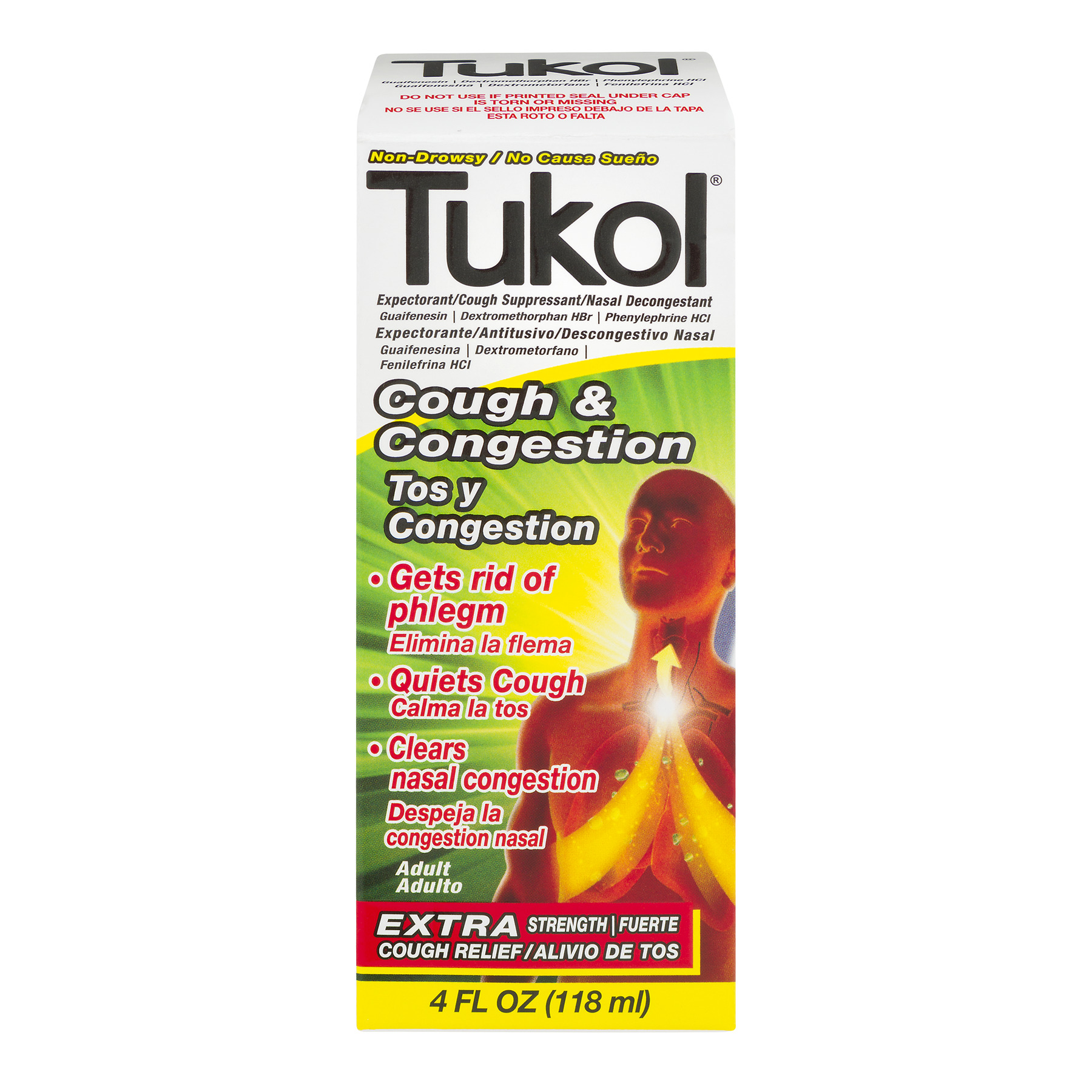Tukol Cough & Congestion Relief, 4.0 FL OZ